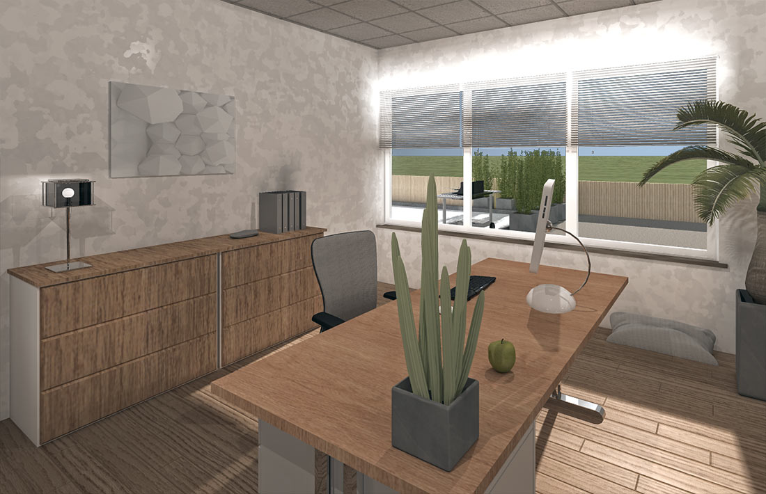Visualisierung unserer neuen Geschäftsräume, Penthouse in Pforzheim-Nord